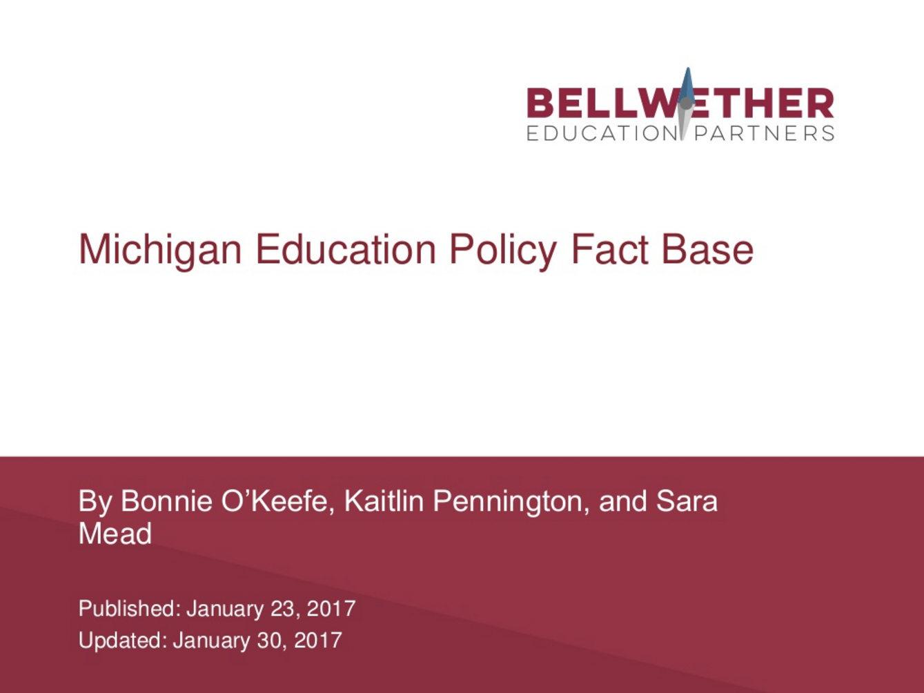 Michigan Education Landscape: A Fact Base for the DeVos Debate Cover Image